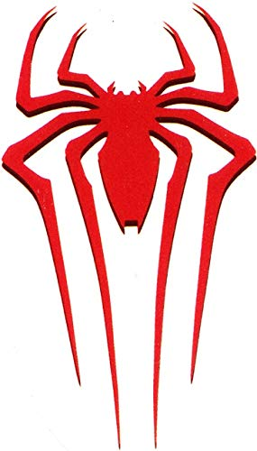 3 Inch Ultimate Spider-Man Red Logo Decal Spiderman Marvel Comics Removable Peel Self Stick Adhesive Vinyl Decoration Wall Sticker Art Kids Room Home Decor Boys Nursery 1 1/2 x 2 1/2 Inch Tall