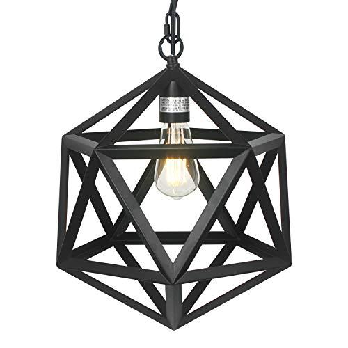 - DASINKO Vintage Industrial One-Light Indoor Mini Pendant Light, Metal Diamond Pendant Lighting Lamp Fixture for Hallway Stairway Porch Bedroom Kitchen, 78.7