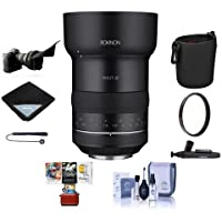 Rokinon SP 50mm F1.2, Manual Focus Lens for Canon EOS - Bundle With 86mm UV Filter, Lens Wrap, Flex Lens Shade, Lens Pouch, Cleaning Kit, Lenspen Cleaner, Capleash II, Mac Software Package