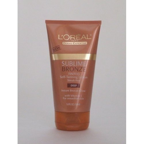 L'oreal Paris Sublime Bronze Tinted Self-tanning Lotion, Deep Natural Tan, 5-fluid Ounce (With Vitamin E) 2 ()