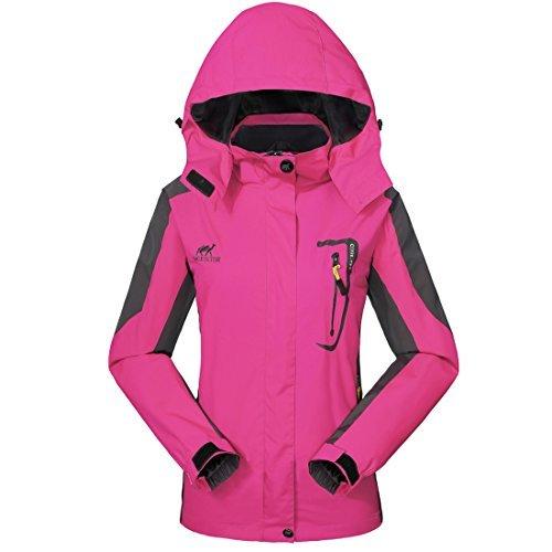 GIVBRO Waterproof Jacket Rain Coats for Women Outdoor Hooded Softshell Camping Hiking Mountaineer Travel Windproof Jackets by GIVBRO