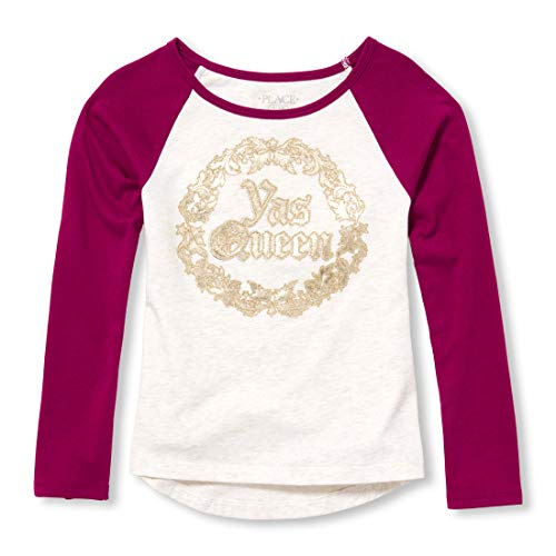 The Children's Place Big Girls Long Sleeve Graphic Tops, Rose Parade, L (10/12) (Justice Girls Shirts)