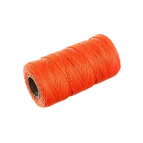 (Braided Nylon Mason Line #18 - Paracord Planet - Moisture, Acid, Oil, Rot Resistant - Twine Cord Masonry for Marine, Chalk, Crafting, DIY, Commercial, Gardening Use (250 Feet - Fluorescent Orange) )