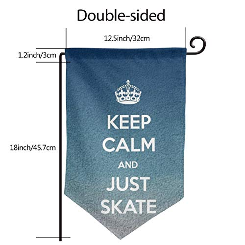 Garden Flag Banner 12.5 X 18 Inch JUST Skate Decorative Garden Flag for Outdoor Lawn and Garden Home D¨¦cor Double-Sided