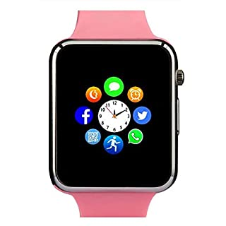 Smart Watch, Touch Screen Smartwatch Smart Wristwatch for Men Women with Call Text SD Card Pedometer SIM Card Slot Music Player Camera Compatible for iPhone (Partial Functions) and Android Phone