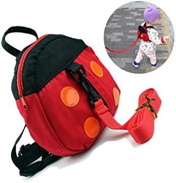 ... bolsa con correa Little Kid Niños Niñas anti-lost cinturón Cute Mini Mariquita Mochilas plomo correa de la mochila, auxiliar Keeper Helper rojo rosso