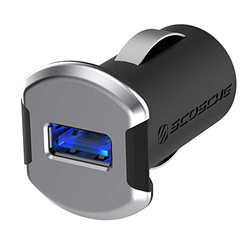 SCOSCHE 12W, Illuminated Car Charger for Universal/Smartphone - Space Gray