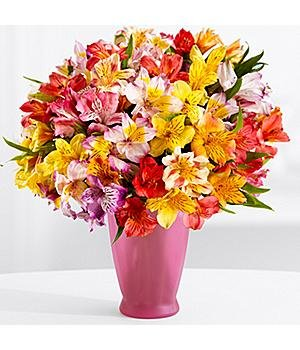 100 Blooms Of Get Well Wishes  With Free Glass Vase    Flowers