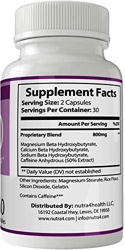 Miraculoux Keto Pills Advance Weight Loss Supplement, Appetite Suppressant with Ultra Advanced Natural Ketogenic Capsules, 800 mg Fast Formula with BHB Salts Ketone Diet Boost Metabolism and Focus by nutra4health LLC (Image #1)