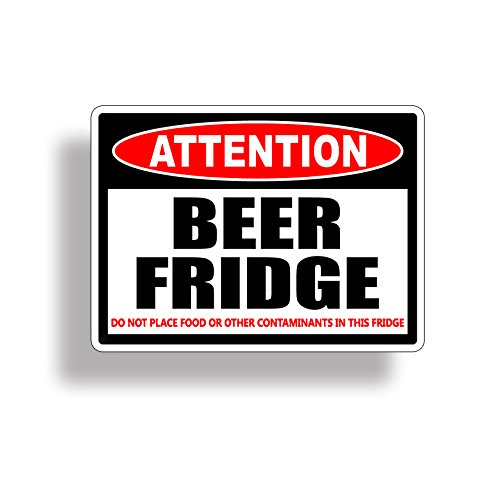 Beer Only Frig Refrigerator Vinyl Decal ()