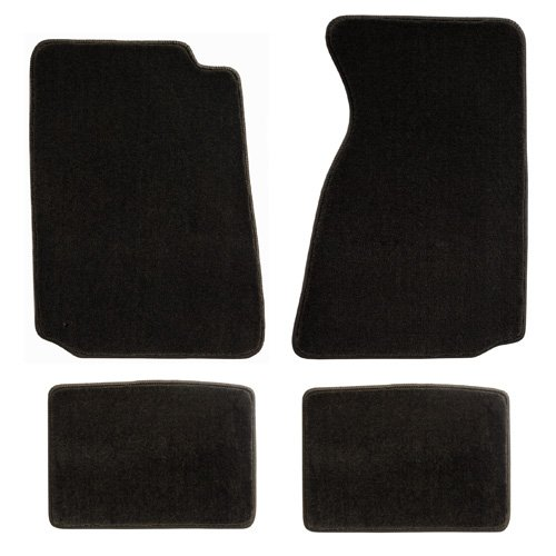 Pony and Tribar Logo Lloyd Mats Fits 1994-2004 Ford Mustang 4pc Tan Parchment Floor Mats
