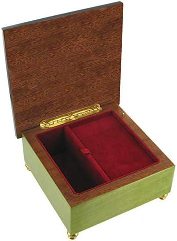Caja de música para joyas / joyero musical de madera con ...