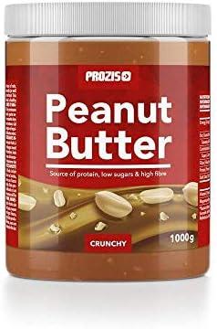 Prozis Peanut Butter 1kg - Deliciosa y de Textura Crujiente - Fuente Natural de Proteína - Apta para Dietas Veganas, Kosher y Halal - Sin Sal Añadida y Sin Grasas Trans