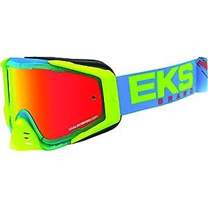 EKS Brand EKS-S Outrigger Adult Dirt Bike Motorcycle Goggles Eyewear - Cyan/Flo Yellow/Flo Orange One Size Fits All