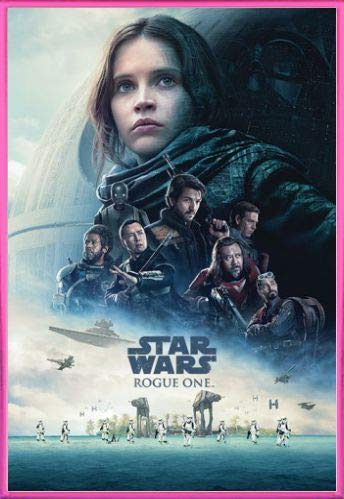 1art1 Star Wars Póster con Marco (Plástico) - Rogue One, Cartel De Cine (91 x 61cm)