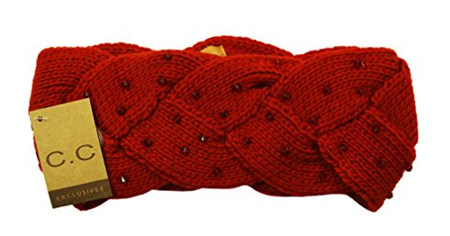 Wholesale Princess Women's Crochet Braided Head wrap-Red