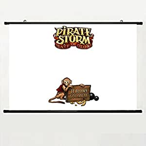 DAKE Home Decor DIY Art Posters with Video Games Pirate Storm Wallpaper(12) Wall Scroll Poster Fabric Painting 24 X 16 Inch (60cm X 40 cm)