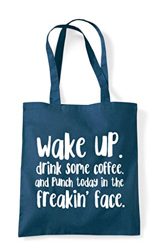Today Shopper Wake Bag Tote And In Up Petrol The Punch Face zzcwq6t7x