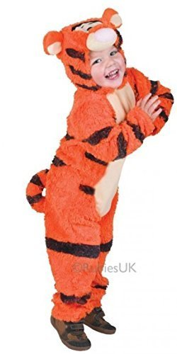 Baby & Toddler Girls Boys Official Disney Winnie The Pooh Tigger Book Day Week Animal Fancy Dress Costume Outfit (2-3 Years, Tigger)]()