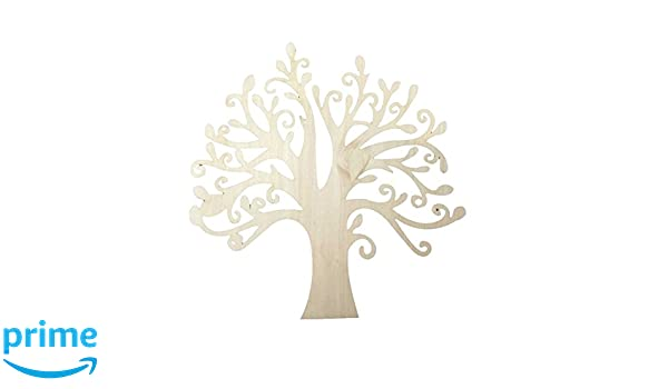 Wooden Family Tree Shape Hollow Design Christmas Crafts Wedding Card Decoration