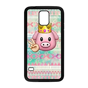 Customised SamSung Galaxy S5 I9600 Case, Cute pig emoji quote personalised Phone Case