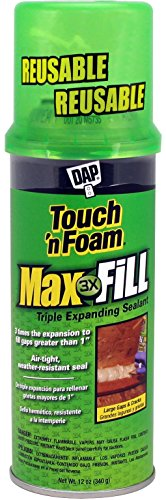 Spray Foam Can - Touch 'n Foam 4001031212 MaxFill Maximum Expanding Sealant, 12Oz. Tan