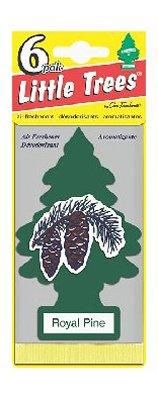 Car Freshner U6P-60101 Little Trees Car Air Freshener, Royal Pine Scent, 6-Pk. - Quantity 4
