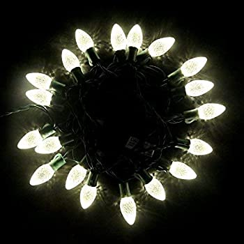 white outdoor christmas lights soft maxinda commercial grade outdoor led decorative string lights13 ft 25 c7 bulbwarm white christmas lightswedding party garden festive mood lighting amazoncom c9 cool faceted led indooroutdoor