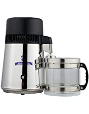 CO-Z 304 Stainless Steel 4L Pure Water Distiller Set with Glass Connection Bottle for Medical & Home Use, FDA Certificated