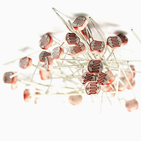 30PCS Photo Light Sensitive Resistor Photoresistor Optoresistor 5mm GL5549