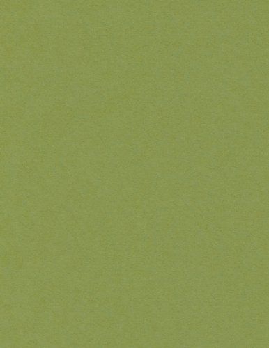 Jellybean Green Matte Cardstock, 8 1/2 x 11 Poptone 100lb Cover, 250 pack by LCI Paper