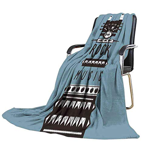 (Big datastore Blanket Rock Hand Template for Posters and Prints time for Rock Music Blanket Couch and Sofa Size:60