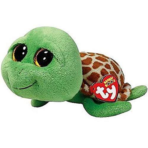 JEWH Ty Beanie Boos Turtle ,Dog, Cat, Dragon, Unicorn, Fox, Ghost, Wolf, Bear, Teddy - Plush Soft Big-Eyed Stuffed Animal Doll Toy ( Green Turle)