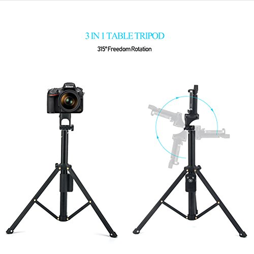 Eocean Selfie Stick Tripod, 54 Inch Adjustable iPhone Tripod, Extendable Camera Tripod for Cellphone and Camera, with Wireless Remote for iPhone 8/8 Plus/X/7/7 Plus/Galaxy/Google by Eocean (Image #2)