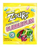 Mike & Ike Zours Fruit Flavored Sour Bubble Gum 4.25 Oz Bag (Pack of 4)