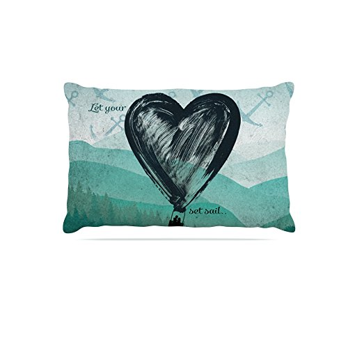 Kess InHouse Nick Atkinson Heart Set Sail  Fleece Dog Bed, 50 by 60 , Multicolor