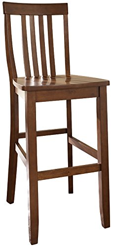 crosley furniture school house 30inch bar stool classic cherry set of 2