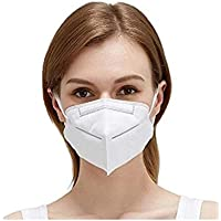 50 Pcs Disposable Face Mask, 3 Layers Breathable Face Cover Masks with Elastic Earloop and Adjustable Metal Nose Wire…
