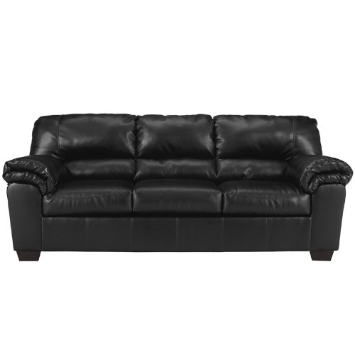 Corporal Sofa in Black Leather