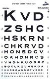 Snellen Type Plastic Eye Chart - 10'