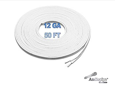 50 Ft 12 Awg Gauge White Marine Speaker Wire Stranded Tc Tin Copper Plated