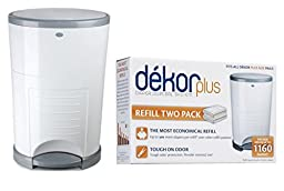 Diaper Dekor Plus Diaper Disposal System with Refill Bags