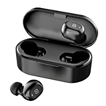 SoundPEATS(サウンドピーツ) TrueFree+ ワイヤレスイヤホン Bluetooth 5.0 完全ワイヤレス イヤホン SBC/AAC対応 35時間再生 Bluetooth イヤホン 自動ペアリング 左右独立型 マイク内蔵 両耳通話 防水 小型 軽量 TWS ブルートゥース ヘッドホン トゥルーワイヤレス ヘッドセット [メーカー1年保証]