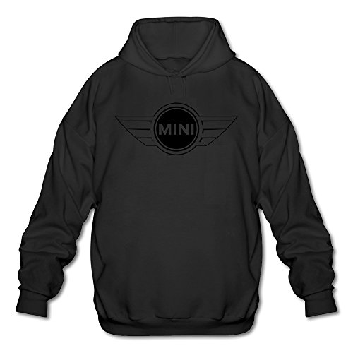 mens-mini-car-logo-lightweight-hoodie-black