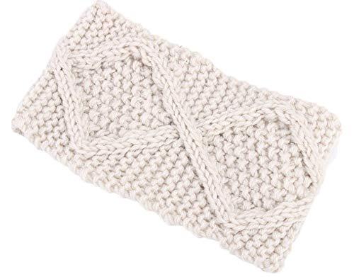 Price comparison product image SUleeBF Women's Cable Knit Headband Head Wrap Ear Warmer (White)