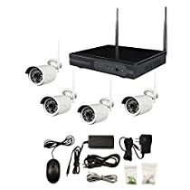 Metra Home Theater SPY-NVR4720W 4-Channel Wireless Camera Complete Surveillance System, White