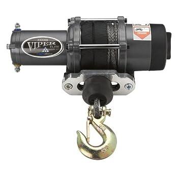 Image of MotoAlliance Viper Elite ATV/UTV Winch 5000lb with 40 feet Black Synthetic Rope and Wireless Remote ATV Winches