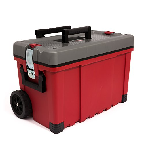 65 cm wide HAWK CART mobile large tool box troley telescopic handle by Keter
