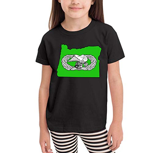 USAF Transportation Badge Oregon Map Children's T Shirt Baby Boys Girls Tee Infant Toddler T-Shirt ()