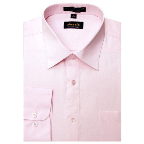 Amanti Pink Colored Men's Dress Shirt Long Sleeved 16.5-36/37 ()
